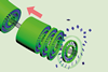 An image showing threading carbon nanotubes through a self-assembled nanotube