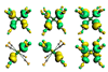 Orbitals of the 18e main group complexes