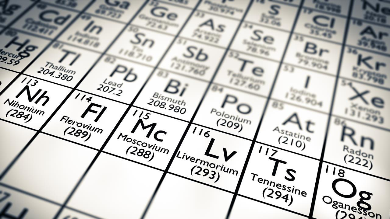 Hunt for element 119 to begin research chemistry world new periodic table elements 2016 urtaz