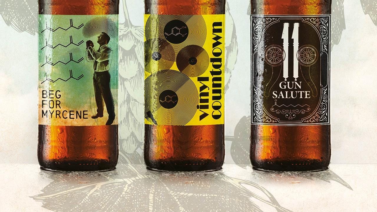 Beer music to your taste buds feature chemistry world bottled beer with chemically suitable names freerunsca Image collections