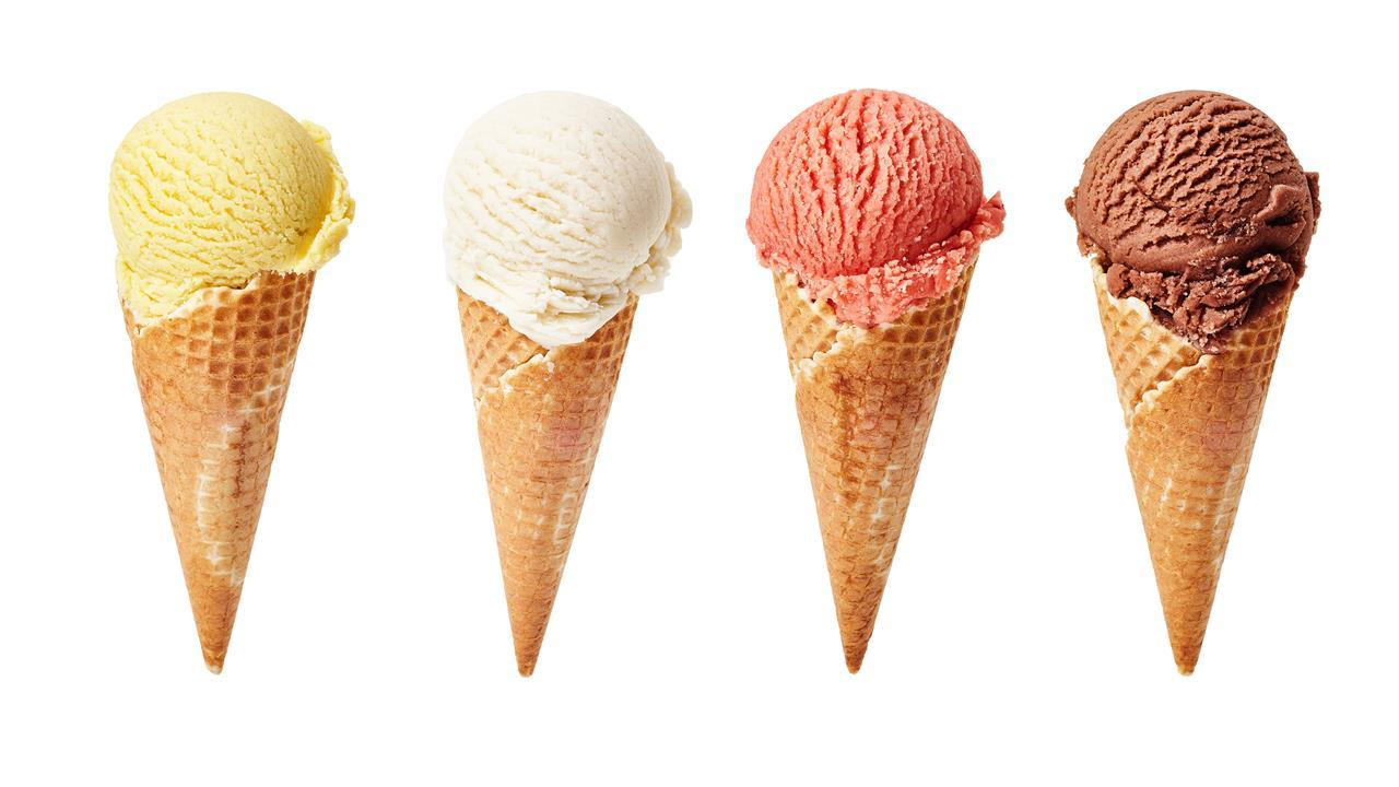 Whats going on in your ice cream news chemistry world four ice cream cones ccuart Images