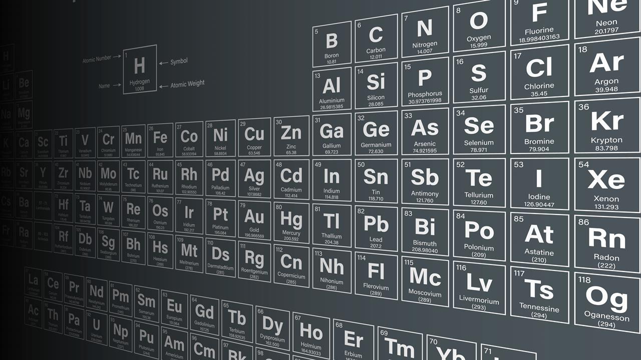 periodic table of the elements including nihonium moscovium tennessine and oganesson - Periodic Table Of Elements Years