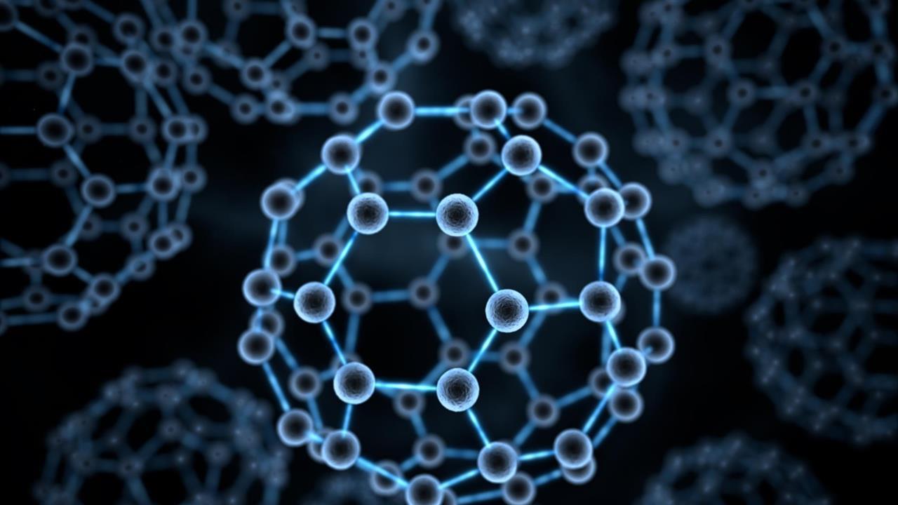 Fullerene Nanoflask Captures Reactivity Of Atomic Nitrogen Oxygen Atom Structure Diagram Stock Photo Computer Model Buckminsterfullerene