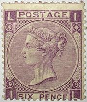 Victoria six pence stamp