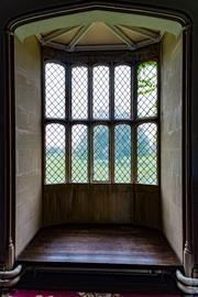 Latticed window at Lacock Abbey