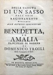 Cover of the manuscript by D. Troili (1722-1792) published in 1766