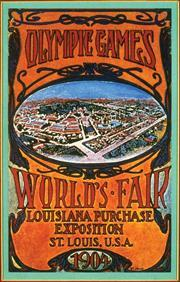 Poster for the 1904 Summer Olympics in St Louis