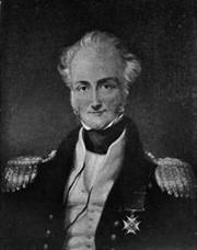 Sir Charles John Austen - Admiral (Royal Navy), grey scale copy of 19th century painting