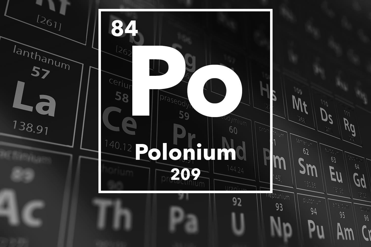Polonium 210 A Deadly Element News Chemistry World