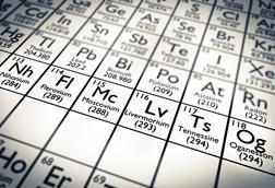 Periodic table showing position of flerovium