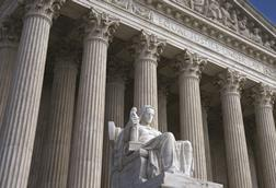 Supreme Court Building in Washington, DC - close-up of 'Equal justice under law'