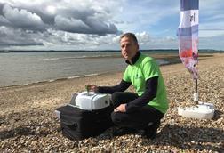 PerkinElmer's Ian Robertson beach sampling microplastics