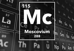 Periodic table of the elements – 115 – Moscovium