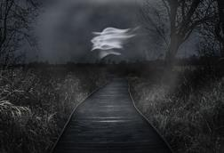 Will o' the wisp over the fens