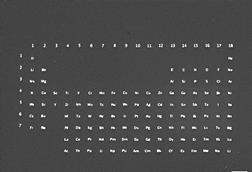 An image showing the periodic table