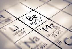 An image of the periodic table, focusing on beryllium