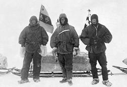 Ernest Henry Shackleton, Captain Robert Falcon Scott and Dr. Edward Adrian Wilson on the British National Antarctic Expedition (a.k.a. Discovery-Expedition), 2 Nov 1902