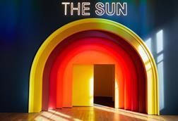 A picture showing the entrance into The Sun exhibition