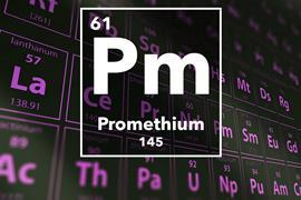 Periodic table of the elements – Promethium