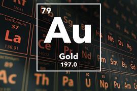 Periodic table of the elements – 79 – Gold
