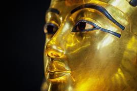 Funeral mask of the Pharoah Tutankhamun
