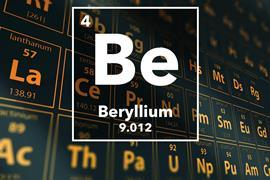 Periodic table of the elements – 4 – Beryllium