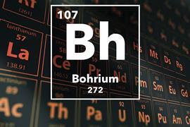 Periodic table of the elements – 107 – Bohrium