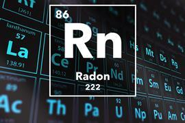 Periodic table of the elements – 86 – Radon