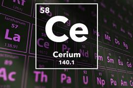 Periodic table of the elements – 58 – Cerium