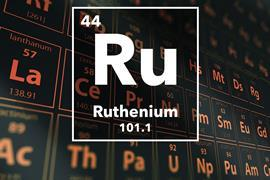Periodic table of the elements – 44 – Ruthenium