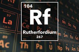 Periodic table of the elements – 104 – Rutherfordium