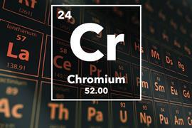Periodic table of the elements – 24 – Chromium