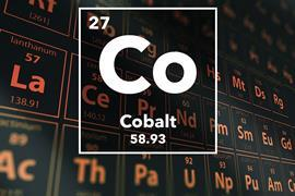 Periodic table of the elements – 27 – Cobalt