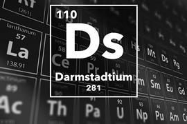 Periodic table of the elements – 110 – Darmstadtium