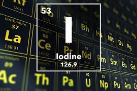 Periodic table of the elements – 53 – Iodine