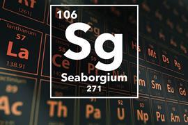 Periodic table of the elements – 106 – Seaborgium