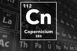 Periodic table of the elements – 112 – Copernicium