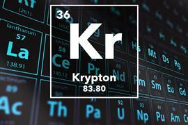 Periodic table of the elements – 36 – Krypton