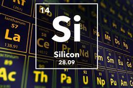 Periodic table of the elements – 14 – Silicon