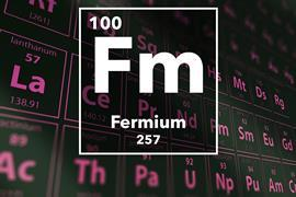 Periodic table of the elements – 100 – Fermium