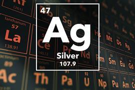 Periodic table of the elements – 47 – Silver