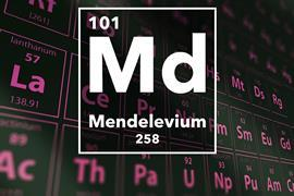 Periodic table of the elements – 101 – Mendelevium