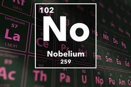 Periodic table of the elements – 102 – Nobelium