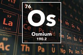 Periodic table of the elements – 76 – Osmium