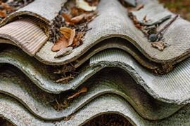 Corrugated asbestos cement roofing