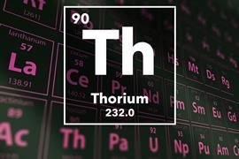 Periodic table of the elements – 90 – Thorium