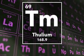 Periodic table of the elements – 69 – Thulium