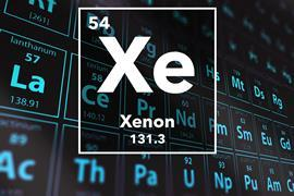 Periodic table of the elements – 54 – Xenon