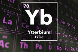 Periodic table of the elements – 70 – Ytterbium
