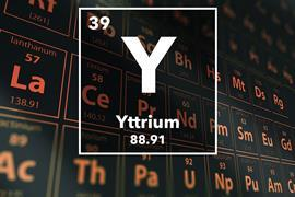 Periodic table of the elements – 39 – Yttrium
